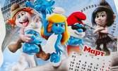 Календари за новата година - големи и малки, на половин ценакалендараснимки