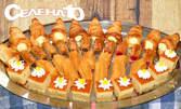 20 броя сиропирани сладки или мини неаполитанки с пухкав крем