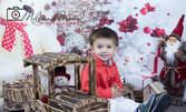 Семейна коледна фотосесия в студио с 25 обработени кадъра