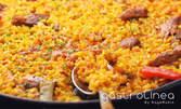 Паеля Валенсияна с пилешко месо и зеленчуци