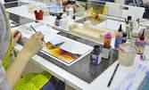 3 часа рисуване на 3D картина върху стъкло - на 3 Юни
