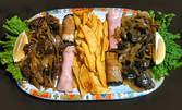 1кг плато за ценители - патешки сърчица и воденички, картофки, ролца по чешки и пълнен патладжан