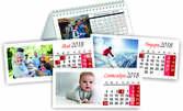 Голям 6-листов календар със снимки на клиента, 3 или 5 броя календар-пирамида с 12 снимки