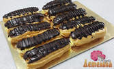 10 броя луксозни еклери с шоколад, или торта по избор с 8 или 12 парчета