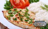 Хапване по избор с музика на живо в Петък и Събота - салата, основно ястие с гарнитура и десерт