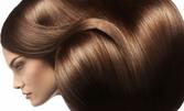Ламиниране на коса с кератинова преса на Joyco, плюс изправяне