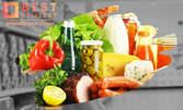 Пазаруване и експресна доставка на продукти на адрес на клиента