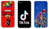 Силиконов калъф за смартфон с дизайн по избор - Tik Tok, Fortnite или Brawl Stars