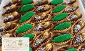 30 броя мини кошнички с шоколад и празнична декорация