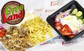 Порция пилешки или свински Гирос, плюс гръцка салата
