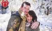 Зимна фотосесия или приключенски фото тур за двама, с 20 обработени кадъра или едноминутно видео