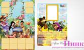 2 детски еднолистови календара с 2 снимки или 10 ламинирани джобни календарчета със снимка - без или със фотозаснемане