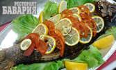 1500гр пълнен шаран, приготвен по традиционна рецепта - за хапване на място или за вкъщи