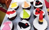 10 броя бисквитки или ръчно направени мъфини с фондан, със снимка или декорация по избор