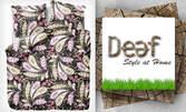 Луксозен спален комплект Deef от памук и сатен в дизайнерски десен