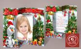Фотозаснемане на дете в студио, плюс календар и коледна картичка със снимка