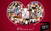 Колаж с дизайн на любовна тематика, поставен в клипс рамка