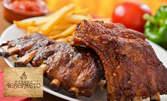 900гр апетитно месце! Свински ребърца на барбекю или глазирани на тиган