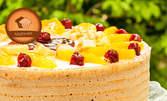Класическа или портокалова лимонада, плюс десерт по избор