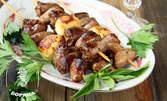 Салата, основно ястие и десерт - без или със ползване на басейн, шезлонг и чадър
