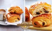 Сутрешна или следобедна закуска - френски кроасан с масло или парче сладкиш по избор, плюс чаша кафе