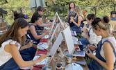 Рисуване и вино в Бар Roof Top - с вдъхновяваща гледка към София и Витоша