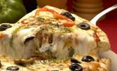 """Салата """"Мафиозо"""" и голяма пица Болоня"""