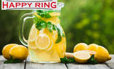 Литър домашна лимонада, плюс кафе и палачинка, или мелба