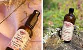 100% натурална вода или спрей за уста с розова вода и шафран