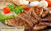 1.2кг плато сръбска скара! Ущипци, кебапчета, вешалица и пържени картофки