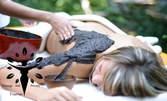 Лечебен масаж на кръст, гръб, врат и ръце, плюс компрес с черноморска луга на гръб и сух енергизиращ масаж