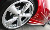 Смяна на 2 гуми, плюс проверка на ходова част и спирачки