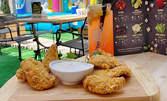 Домашна лимонада, пилешки хапки с корнфлейкс и бонус - ползване на детски кът