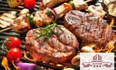 2кг хапване! Свински вратни пържолки и пържени картофки