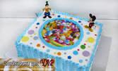 Празнична детска торта: кръгла с 16 парчета, или правоъгълна с 20 парчета