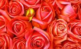 Покажи любовта си на 8 Март! Букет от 5 или 25 рози Еквадор