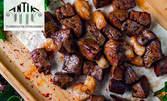 Искендер дюнер кебап с агнешко и телешко месце