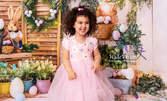 Професионална пролетно-великденска детска или бебешка фотосесия с 5 или 10 обработени кадъра