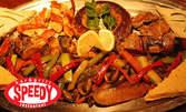 1.5кг балканско угощение! Свинско и пилешко месо, суджук и гриловани зеленчуци, плюс две брускети
