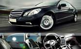 Вътрешно и външно почистване на автомобил или полиране на фар или стоп