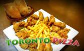Хрупкави пилешки филенца пане с BBQ сос и пържени картофки
