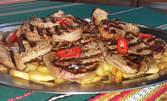 1кг свински вратни пържоли и 1кг пържени картофки