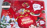 Меко коледно килимче Merry Christmas