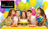 Фотозаснемане на детски рожден ден с до 200 кадъра
