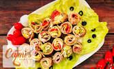 Плато с три или четири вида сладки или солени катми