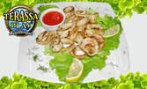 Вкусни калмари по избор - с подлютен сос, със зеленчуци, по гръцки или панирани бирени калмари