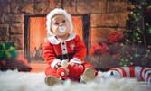 За Коледа! Детска или семейна фотосесия с 10 или 20 обработени кадъра - в студио или на открито