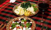 Гръцка салата и пиле Белависта с моцарела
