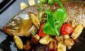 За трапезата на Никулден! Печен шаран с богата плънка по традиционна рецепта - около 2кг, за вземане за вкъщи