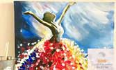 """3 часа рисуване на тема """"Житни полета с кипариси, по Ван Гог"""", плюс чаша вино и мини сандвичи - на 3 Декември"""